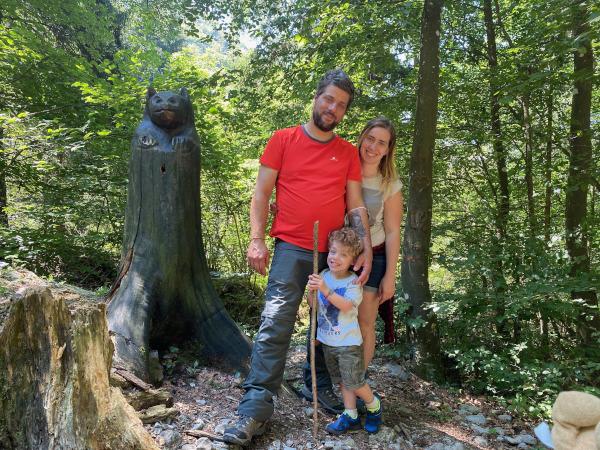 Famiglia nel bosco