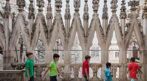 bambini sul tetto del Duomo