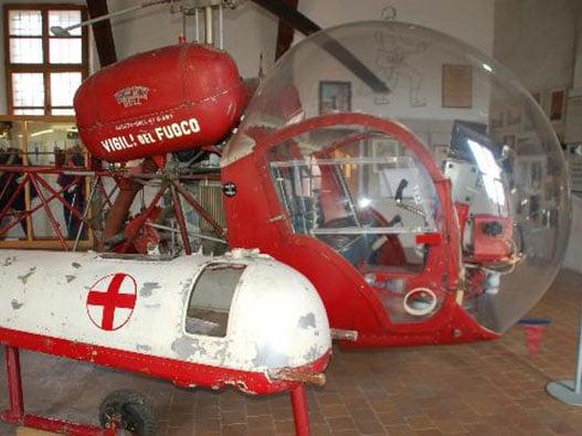 elicotteto vigili del fuoco d'epoca