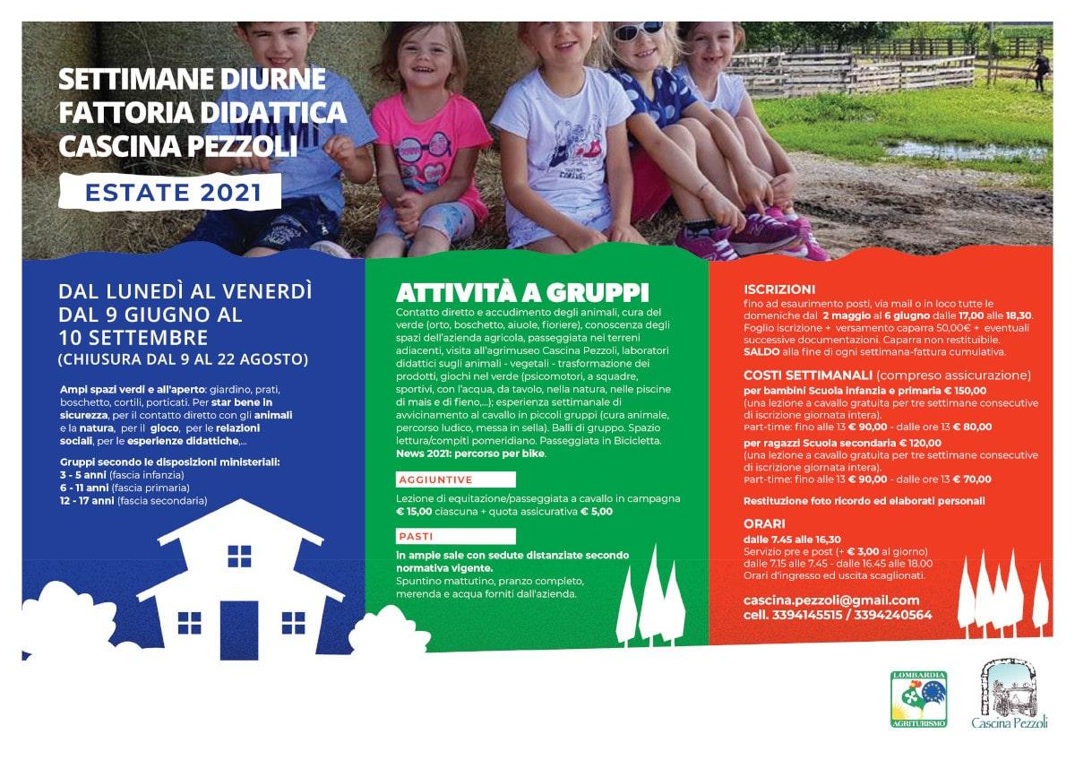 Programma campo estivo Cascina Pezzoli