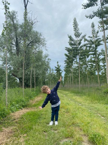 bambino nel Parco dell'Oglio
